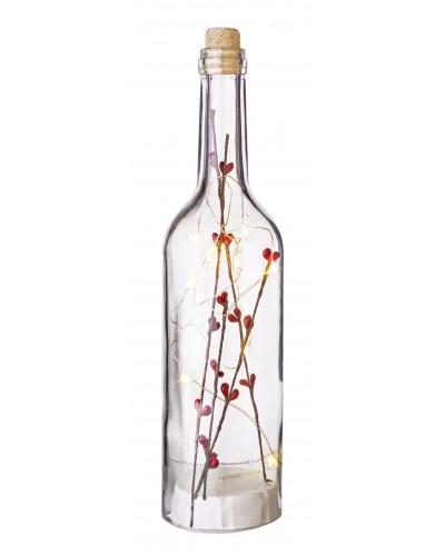 Bottiglia di Natale Vetro con Led