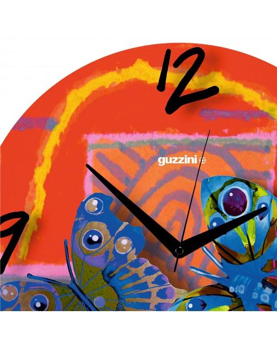 Volare Red Orologio parete in vetro Guzzini - design David Gerstein