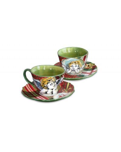 Set 2 tazzine caffè - Baci MIlano Tartan