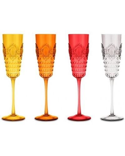 Set 4 flute Vino Baci Milano - vari colori