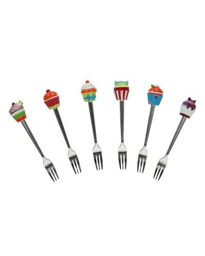 Set 6pz posate dolce - vari colori