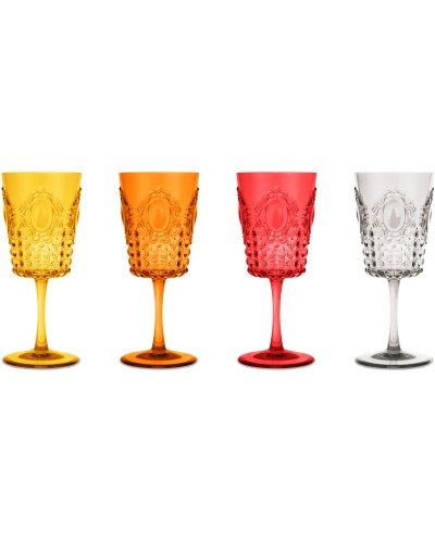 Set 4 Bicchieri Vino Baci Milano - vari colori