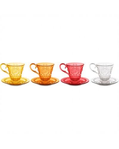 Set 4 Tazzine Caffè Vino Baci Milano - vari colori